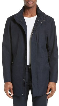 Men's Armani Collezioni Three Quarter Length Overcoat $995 thestylecure.com