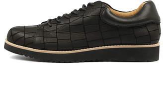 Walnut Melbourne Micah leather lace up Black Shoes Womens Shoes Casual Flat Shoes
