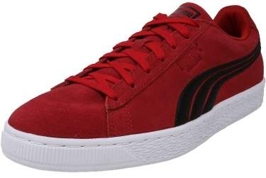 Puma Men's Classic Badge Suede Barbados Cherry / Black Ankle-High Fashion Sneaker - 9.5M