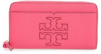 Tory BurchWomen's Tory Burch 'Harper' Leather Zip Continental Wallet - Black