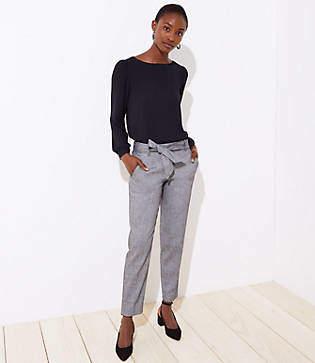 LOFT Slim Tie Waist Pencil Pants in Marisa Fit