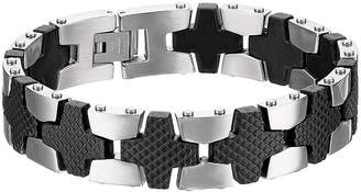 FINE JEWELRY Mens Two-Tone Stainless Steel Chain Link Bracelet