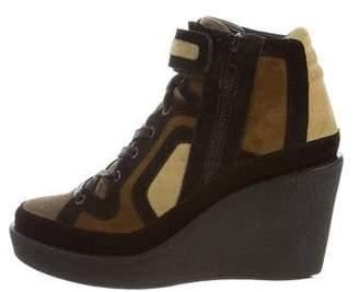 Pierre Hardy Quadri Wedge Sneakers