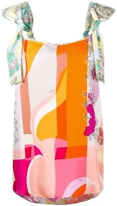 Emilio Pucci geometric print sleeveless blouse