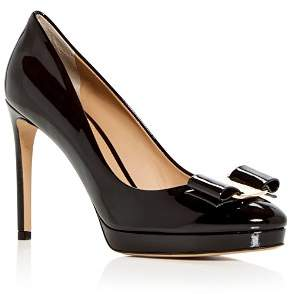 Salvatore Ferragamo Women's Osimo Patent Leather High-Heel Platform Pumps