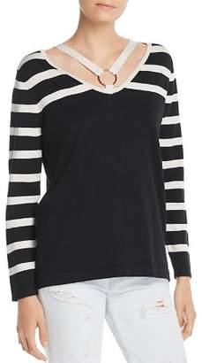Avec Striped Strappy Sweater