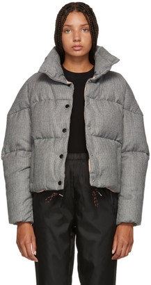 Moncler Black and White Houndstooth Down Cer Jacket
