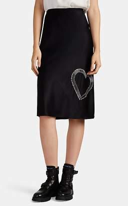 Alexander Wang Women's Safety-Pin-Embellished Silk Skirt - Black
