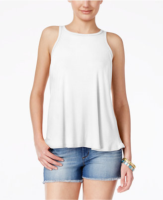 Planet Gold Juniors' Ribbed Swing Tank Top $24 thestylecure.com