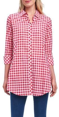 Foxcroft Cici Slub Gingham Shirt