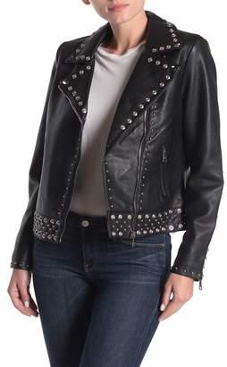 Vigoss Studded Faux Leather Moto Jacket