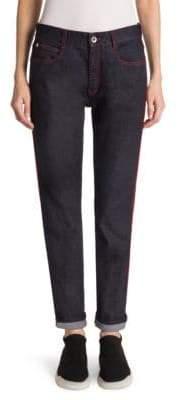 Stella McCartney Red Stitching Boyfriend Jeans