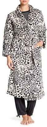 Natori N Plush Animal Print Robe