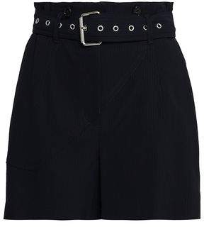3.1 Phillip Lim Belted Pinstriped Twill Shorts