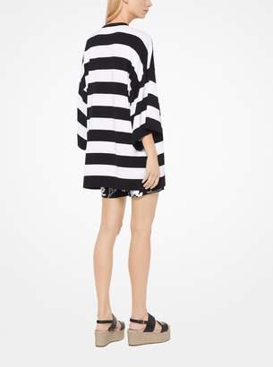Michael Kors Awning Striped Cotton T-Shirt