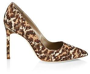 Manolo Blahnik Women's BB 105 Leopard-Print Pumps