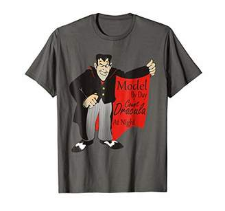 Count Dracula Men Tshirt Model by Day Vampire Shirt