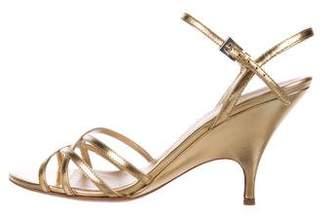 Prada Metallic d'Orsay Sandals
