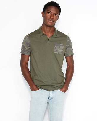 Express Camo Sleeve Jersey Polo