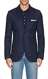 Loro Piana Men's Houndstooth Cashmere-Blend Sportcoat - Blue Pat.
