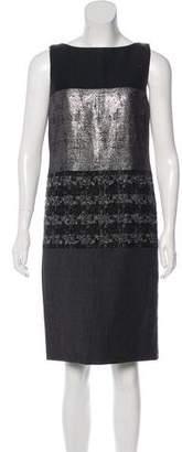 Tory Burch Sleeveless Metallic Dress