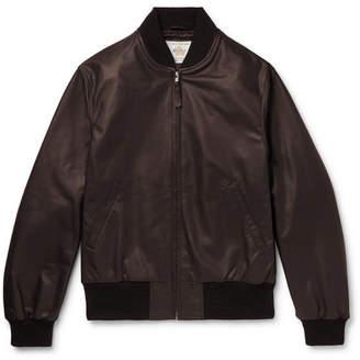 GoldenBear Golden Bear Leather Bomber Jacket