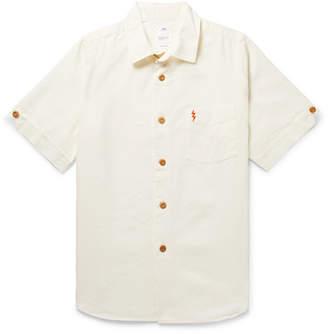 Visvim Ellas Embellished Linen, Silk And Cotton-Blend Shirt
