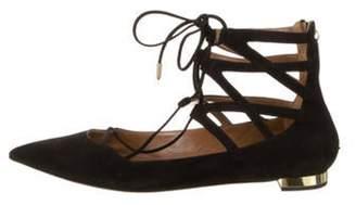 Aquazzura Belgravia Pointed-Toe Flats Black Belgravia Pointed-Toe Flats