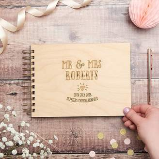 Owl & Otter Mr And Mrs Heart Wedding Guest Book