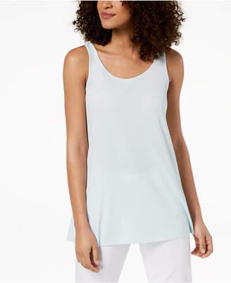 Eileen Fisher Silk Jersey Sleeveless Tunic
