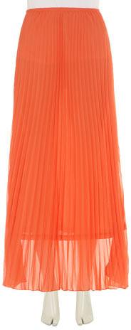 Dorothy Perkins Orange pleated maxi skirt