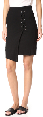 Splendid Lace Up Skirt $118 thestylecure.com