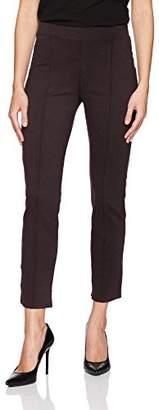 Three Dots Women's Ponte Pintucked Tight Long Pant