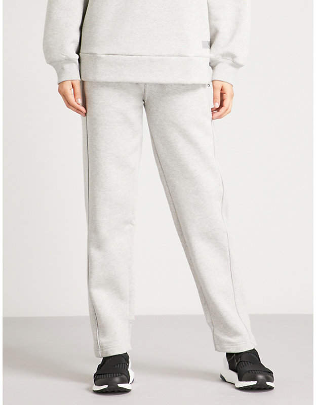 adidas by stella mccartney Comfort cotton-blend jogging bottoms