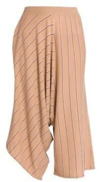 Stella McCartney Wool Pinstripe Knit Asymmetric Pants