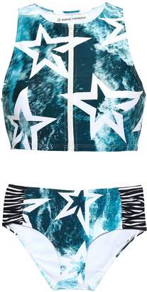Perfect Moment Printed Ruched Bikini