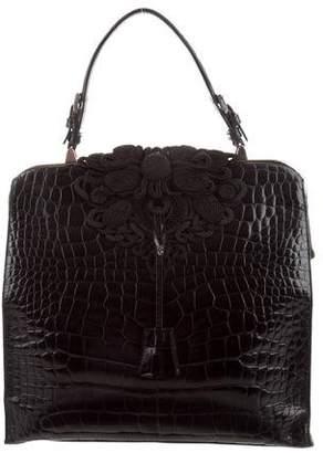 Prada Crocodile Top Handle Bag