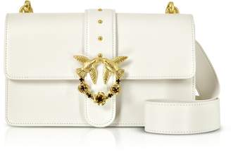 Pinko Love Abbraccio Leather Shoulder Bag
