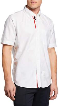Thom Browne Men's Straight-Fit Short-Sleeve Sport Shirt