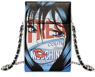 Moschino COUTURE Mini Bag Bag Moschinoeyes Capsule Collection In Genuine Leather With Fresh Print