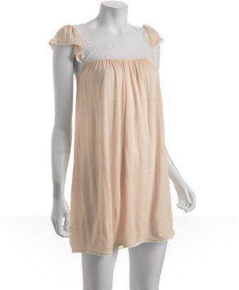 Eberjey blush jersey 'Emma' lace trim lounge chemise