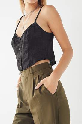 Urban Renewal Vintage Remnants Silky Button-Front Tank Top