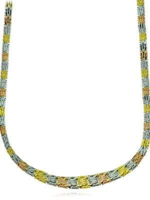 Lord & Taylor 18K Yellow Goldplated Grid Necklace