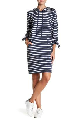 Max Studio Soft Terry Long Sleeve Hooded Dress
