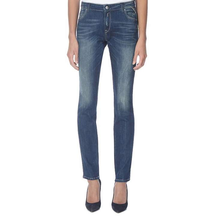 Women's Deep Indigo Slim Fit Stretch Jeans
