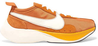 Nike Moon Racer Qs Canvas, Leather And Suede Sneakers - Orange