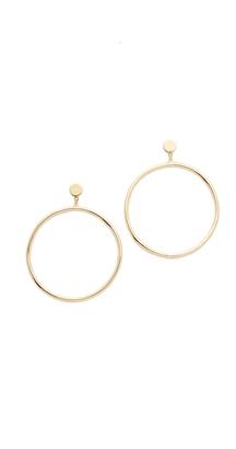 Gorjana Autumn Circle Drop Earrings $60 thestylecure.com