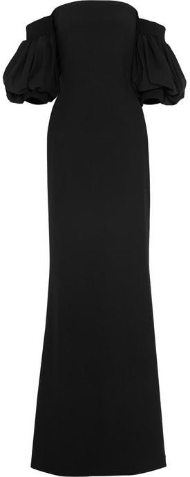 Alexander McQueen Crepe off-the-shoulder gown