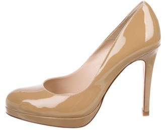 LK Bennett Rounded-Toe Patent Leather Pumps