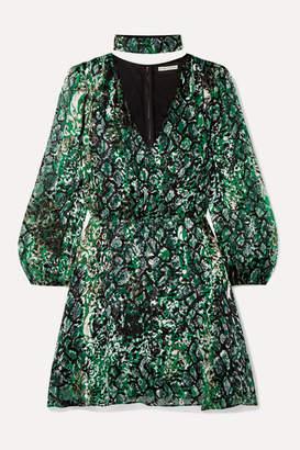 Alice + Olivia Rita Fil Coupe Chiffon Mini Dress
